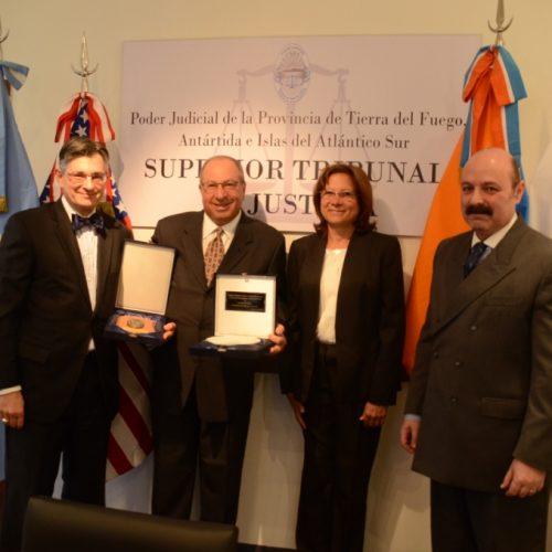 Delegaciones de Chile y Estados Unidos visitaron al Poder Judicial fueguino