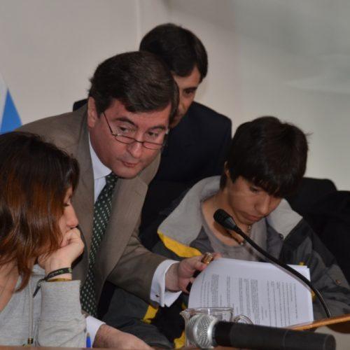 Estudiantes asumieron rol de jueces, fiscales y defensores en simulación de juicio oral