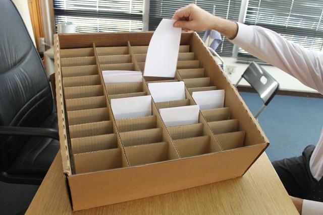 Caja contenedora de boletas eletoral