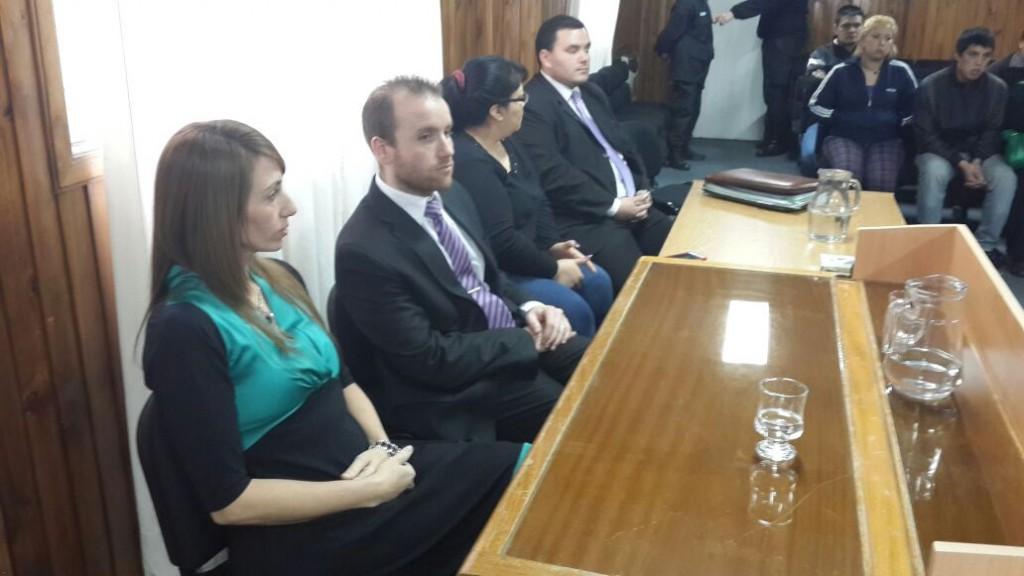 Fiscal Dra. Marchisio y los querellantes en el juicio oral
