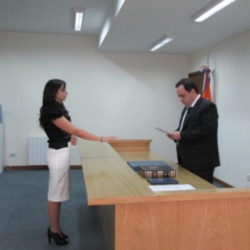Juró la Secretaria del Juzgado de Instrucción N° 2 del DJN