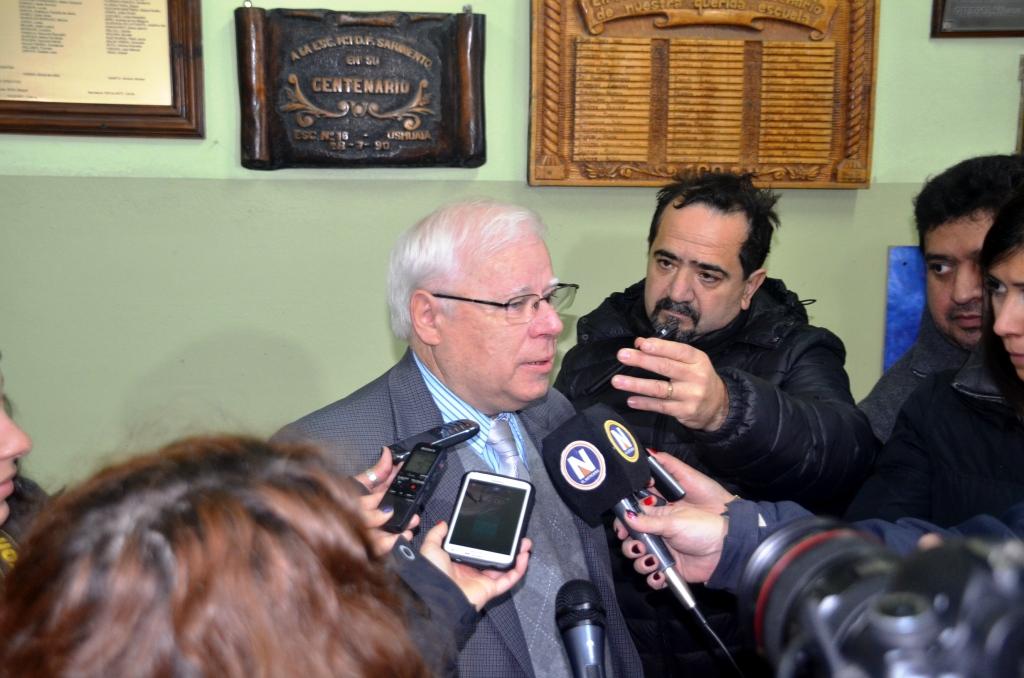 Betts con la prensa