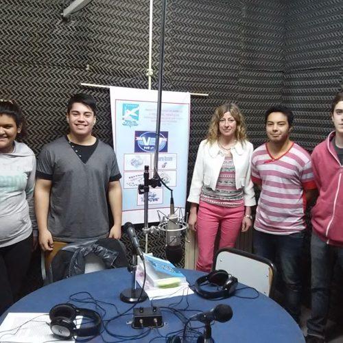 Jueza Correccional de Ushuaia participó de programa de radio conducido por estudiantes secundarios