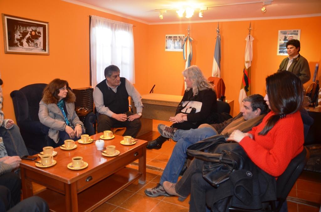 Reuniòn en despacho del intendente Queno