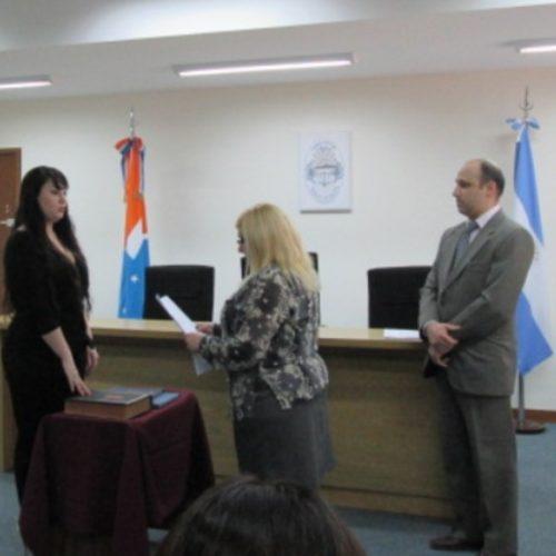 La Doctora Ybars juró como Prosecretaria interina de la Defensoría Pública de Río Grande