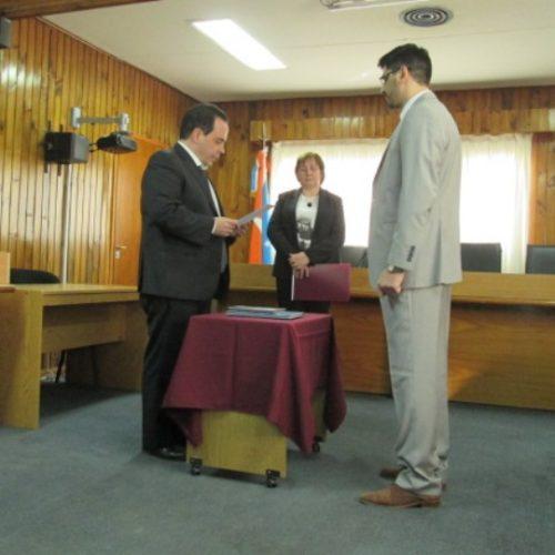 El Juez López tomó juramento al Prosecretario del Juzgado de Instrucción N° 1 de Río Grande