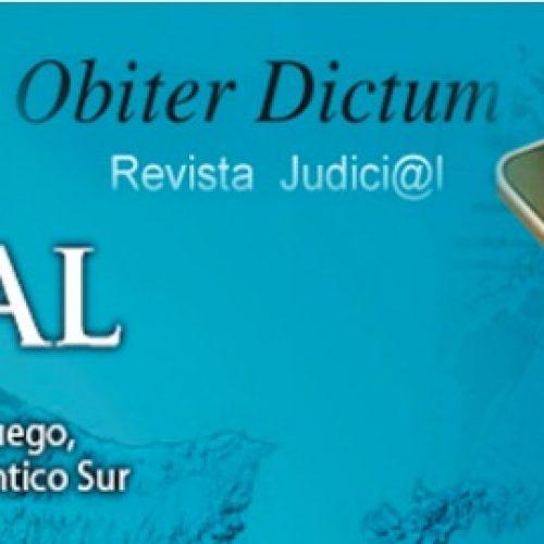 Publican el tercer número de la Revista Judicial digital Obiter Dictum