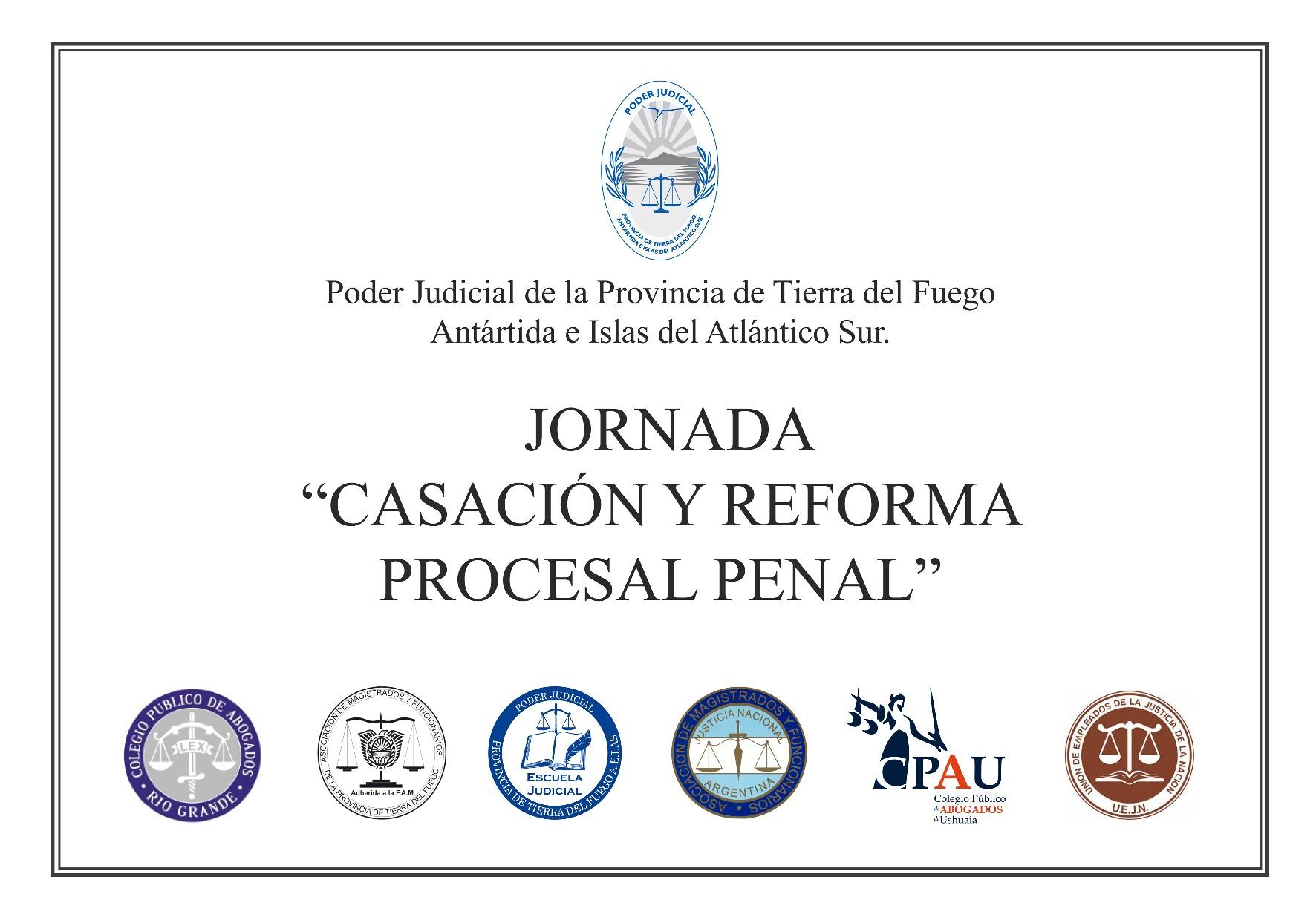 Afiche Jornada de procesal penal