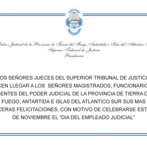 Salutación por el Día del Empleado Judicial