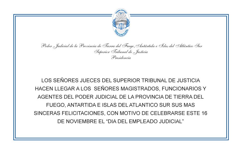 Día del empleado judicial