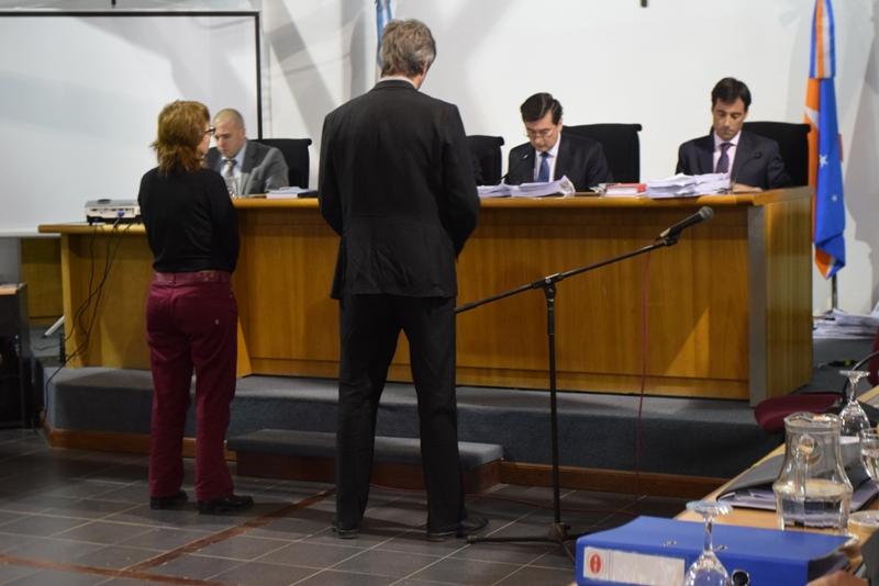Fabiana Ríos y Daniel Ravaglia, testigos