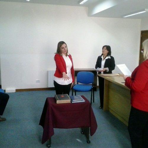 La Doctora Gutiérrez asumió como Prosecretaria del Juzgado de Trabajo del DJN