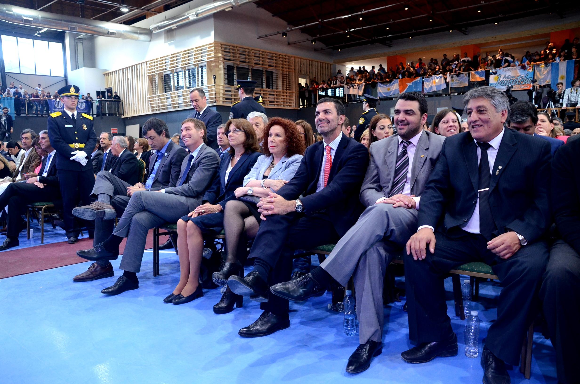 La dra Battaini presente en la ceremonia