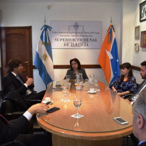 El Superior Tribunal de Justicia se reunió con funcionarios del Ministerio de Justicia de Nación