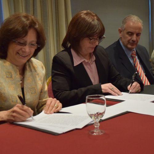 Firmaron convenio para agilizar la comunicación de medidas judiciales en el ámbito nacional