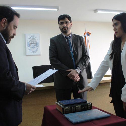Prestó juramento Prosecretaria Interina en el Juzgado de Instrucción N° 1 del DJN