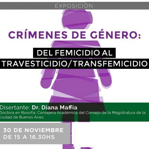 """Realizarán una videoconferencia sobre """"Crímenes de género"""""""
