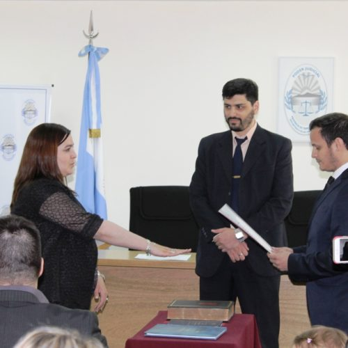 Prestó juramento la Secretaria del Juzgado de Instrucción N° 1 del DJN
