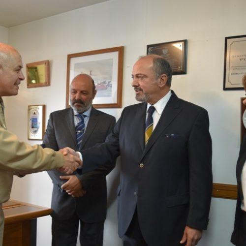 Visita protocolar del Jefe de la Prefectura Naval de Ushuaia