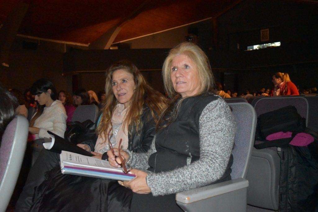 Norma Vecchi y Silvia Vecchi en la presentacióndel Indice de Violencia Machista