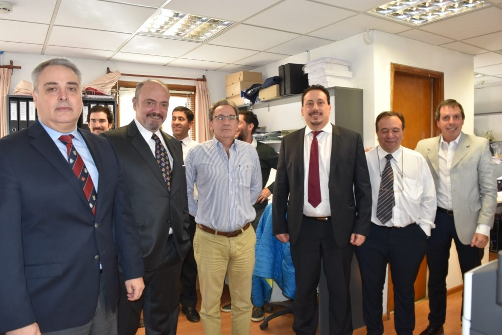 Doctor Sagastume recibiendo al auditor Pérez Prado
