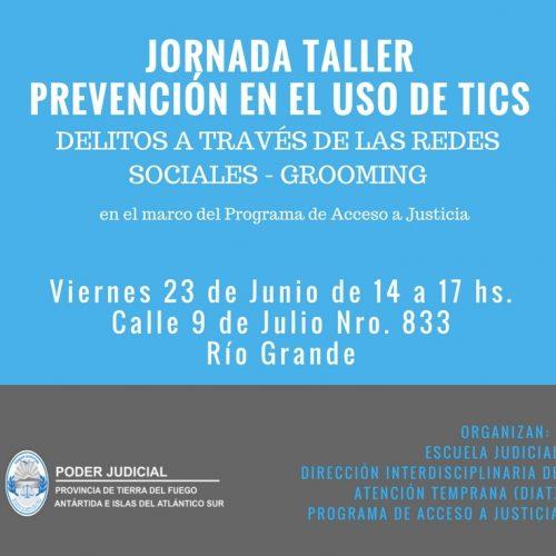 El Poder Judicial realizará una Jornada – Taller sobre Prevención en el uso de las TICS