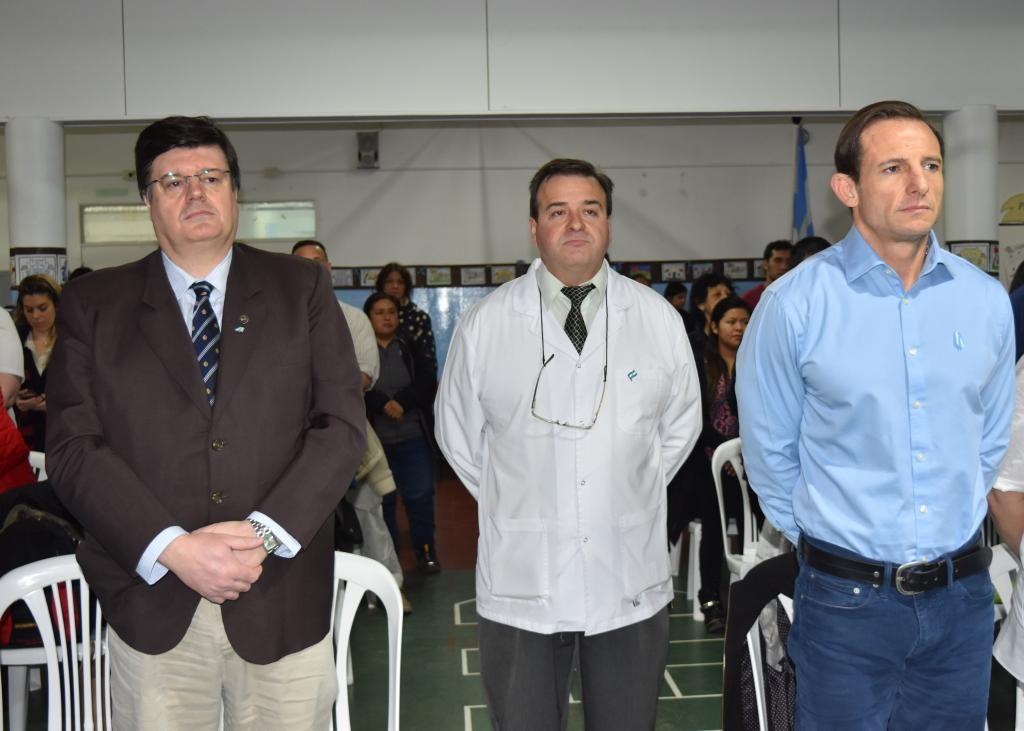 Doctor Bertero en el acto por el 9 de Julio en la Escuela Nº 34