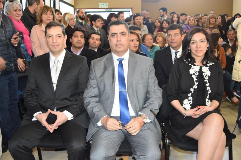 Daniel Cesari, Raúl Sahade y Laura Urquiza