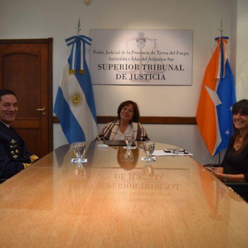 Visita protocolar del nuevo Jefe de la Base Naval Ushuaia