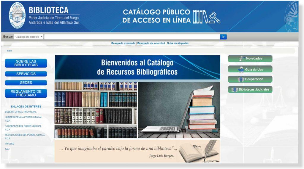 Catálogo Bibliográfico on-line