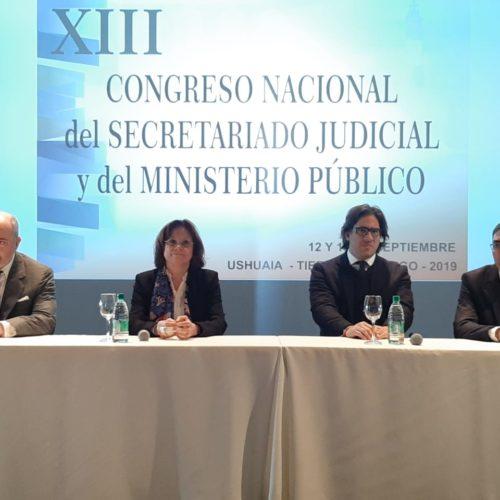 Exitosa apertura del XIII Congreso Nacional del Secretariado Judicial y del Ministerio Público