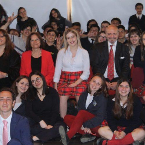 Los jueces Battaini y Sagastume presenciaron la Simulación de Juicio de estudiantes