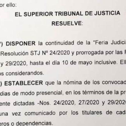 Extienden hasta el 10 de mayo la Feria Judicial Extraordinaria