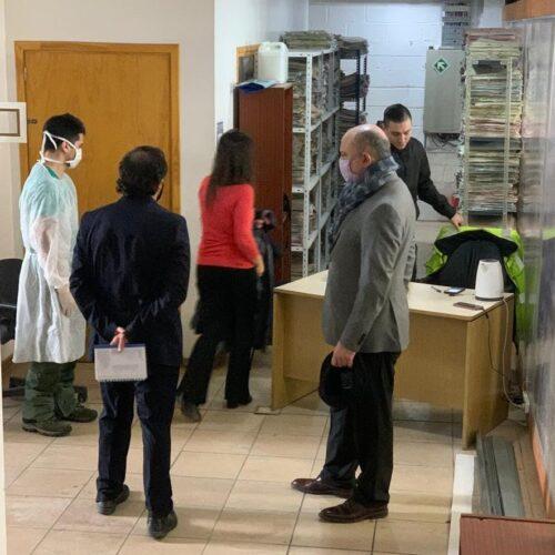 Visitan la obra del edificio judicial ubicado en Alem
