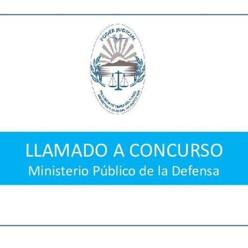 Concurso para cubrir cargos en el Ministerio Público de la Defensa