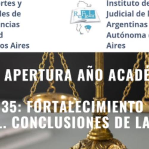El STJ declara de interés la Jornada de apertura del año académico 2021 de REFLEJAR
