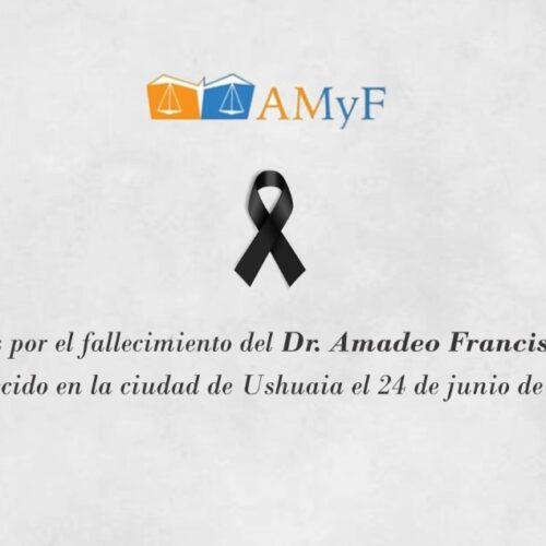 Condolencias por el fallecimiento del Dr. Amadeo Cappelli